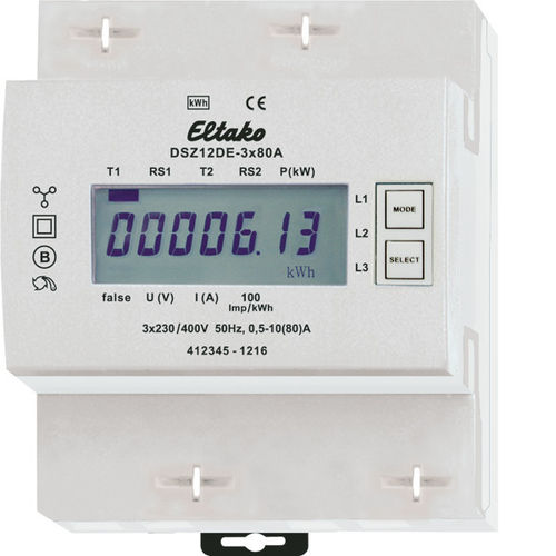 3-phase kWh meter