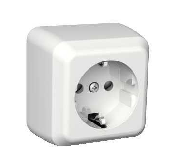 Surface mounted power socket