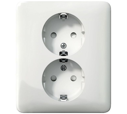 2 way wall socket, grounded