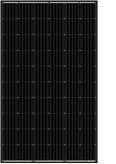 325W JASolar PERC Half-Cell Solar Panel, All Black.